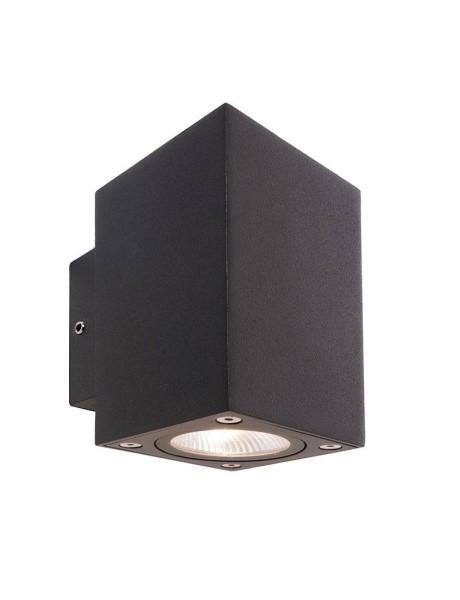 Deko-Light Wandaufbauleuchte, Cubodo II Double DG Mini, Aluminium Druckguss, dunkelgrau, Warmweiß