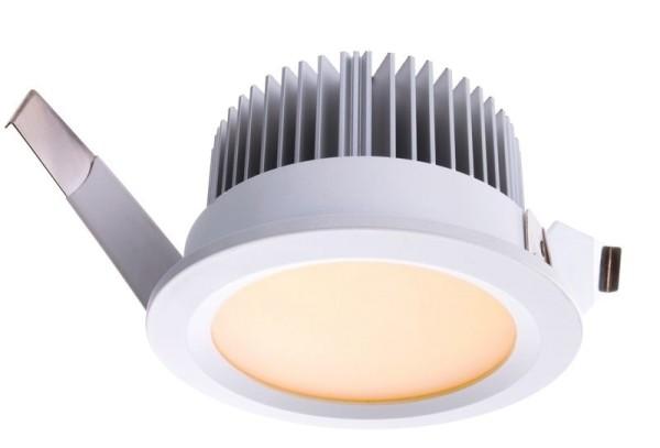 Deko-Light Deckeneinbauleuchte, Aluminium Druckguss, weiß, Warmweiß, 110°, 13W, 37-38V, 350mA