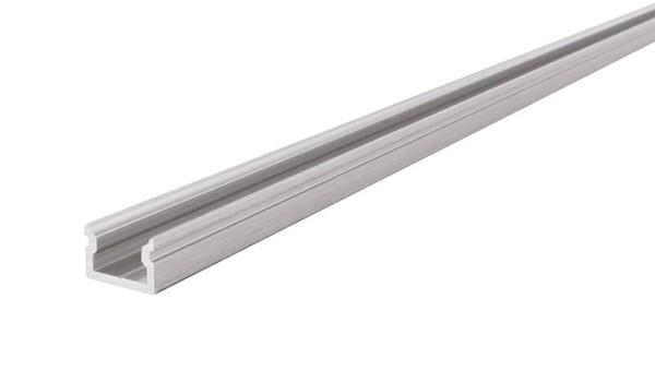 Reprofil Profil, U-Profil flach AU-01-05, Aluminium, Silber gebürstet, 1000mm