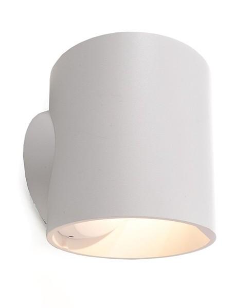 KapegoLED Wandaufbauleuchte, Circ, inklusive Leuchtmittel, Warmweiß, spannungskonstant, 7,00 W, Weiß