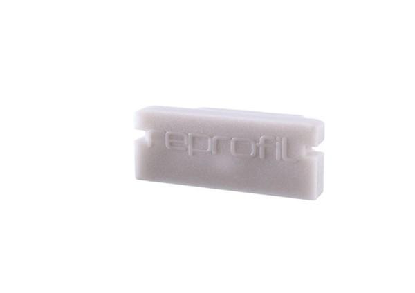 Reprofil Profil Zubehör, Endkappe P-AU-01-12 Set 2 Stk, Kunststoff, Grau, 18x6mm