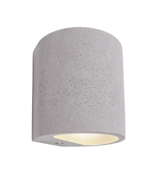 Deko-Light Wandaufbauleuchte, Sabik, Beton, grau, 25W, 230V, 110x105mm