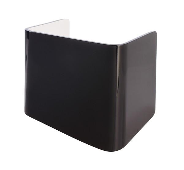 Deko-Light Zubehör, Abdeckung Crateris I Aluminium Schwarz Weiß, Aluminium, Schwarz, 125x90mm