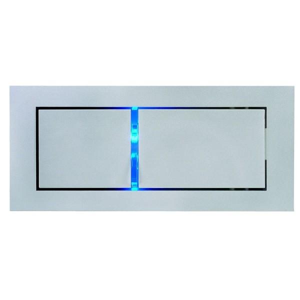 BEDSIDE LINKS Wandleuchte, silbergrau, 3W LED, 3000K, mit blauem Orientierungslicht