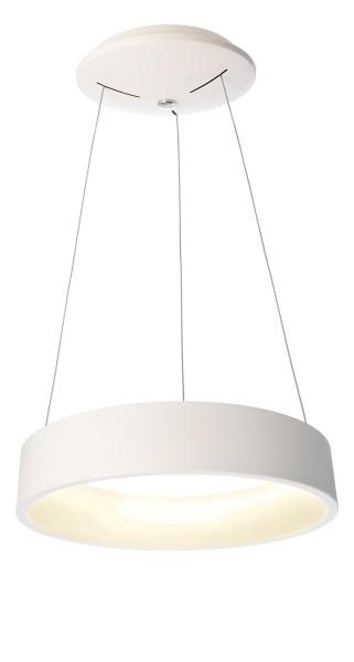 Deko-Light Pendelleuchte, Sculptoris 45, Aluminium, weiß matt, Warmweiß, 150°, 26W, 230V