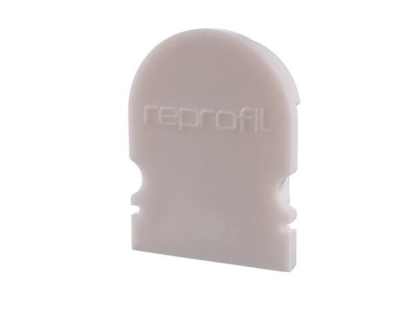 Reprofil Profil Zubehör, Endkappe R-AU-02-12 Set 2 Stk, Kunststoff, Weiß, 18x6mm
