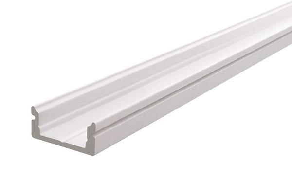 Reprofil Profil, U-Profil flach AU-01-12, Aluminium, Weiß-matt, 2000mm
