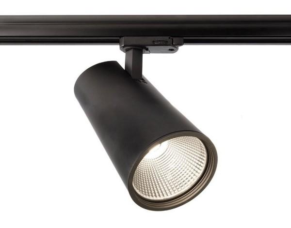 Deko-Light Schienensystem 3-Phasen 230V, Luna 40, Aluminium Druckguss, schwarz mattiert, Neutralweiß