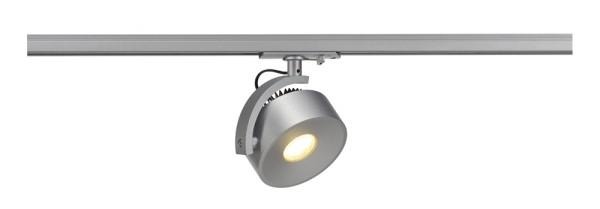 KALU TRACK, Spot für Hochvolt-Stromschiene 1Phasen, LED, 3000K, silbergrau, inkl. 1Phasen-Adapter