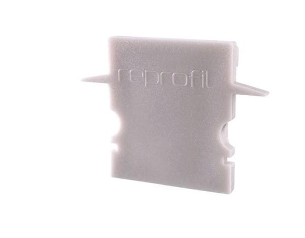 Reprofil Profil Zubehör, Endkappe H-ET-02-12 Set 2 Stk, Kunststoff, Grau, 27x6mm