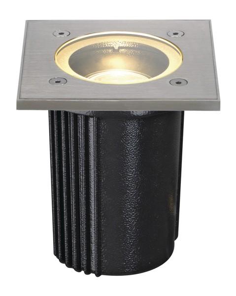 DASAR EXACT 116, Outdoor Bodeneinbauleuchte, QPAR51, IP67, eckig, edelstahl 316, max. 35W