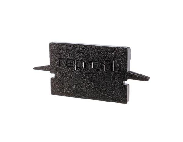 Reprofil Profil Zubehör, Endkappe H-ET-01-12 Set 2 Stk, Kunststoff, Schwarz, 27x6mm