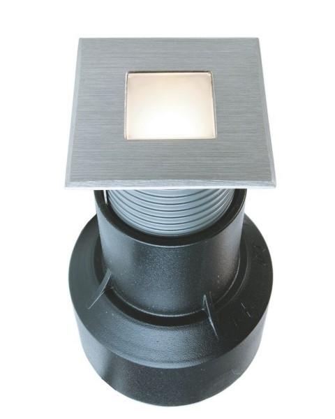 Deko-Light Bodeneinbauleuchte, Basic Square I WW, Edelstahl, silberfarben, Warmweiß, 120°, 24V