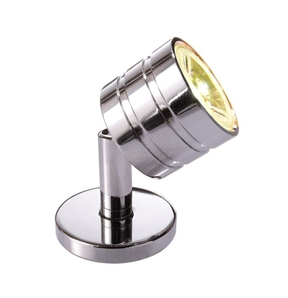 KapegoLED Displayleuchte, Pedria I, inklusive Leuchtmittel, Warmweiß, Silber, Chrom, 3,1-3,5V DC