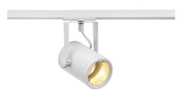 EURO SPOT, Spot für Hochvolt-Stromschiene 1Phasen, QPAR51, weiß, max. 25W, inkl. 1Phasen-Adapter