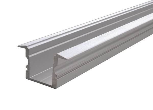 Reprofil Profil, T-Profil hoch ET-02-10, Aluminium, Silber gebürstet, 2000mm