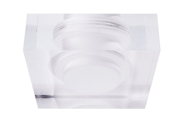 Deko-Light Zubehör, Acrylring quadratisch 90x90mm, COB 68, M58, Acryl, 90x90mm