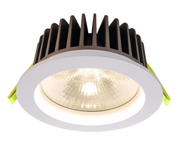 Deko-Light Deckeneinbauleuchte, COB 130, Aluminium, weiß, Warmweiß, 60°, 18W, 34V, 500mA