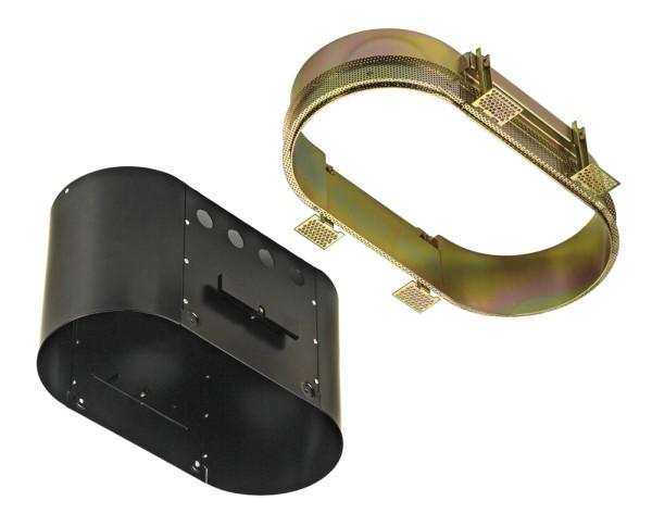 EINBAURAHMEN 2 FRAMELESS, für AIXLIGHT PRO, oval, schwarz, L/B/H 32,5/15,5/18 cm