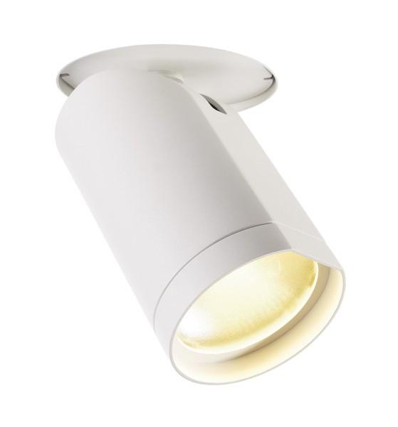 BILAS, Deckeneinbauleuchte, LED, 2700K, rund, weiß matt, 60°, 20W