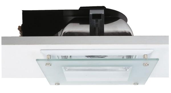 QUOR 52/G EVG, Einbauleuchte, weiß, Glas teilsatiniert, EVG TC-DEL, max. 52W