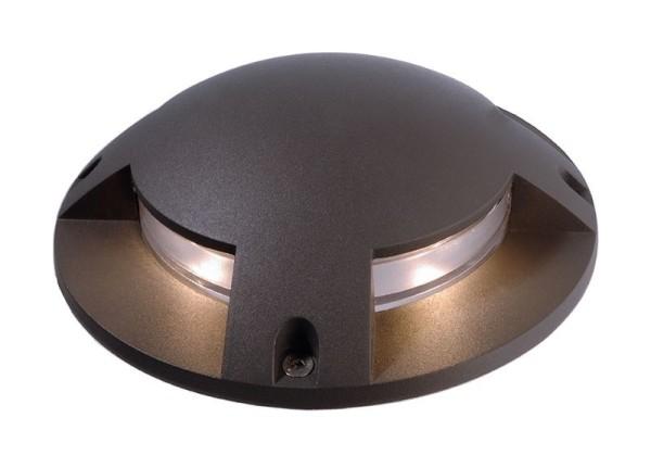 Deko-Light Boden- / Wand- / Deckenleuchte, Helios IV, Aluminium Druckguss, dunkelgrau, Warmweiß, 4W