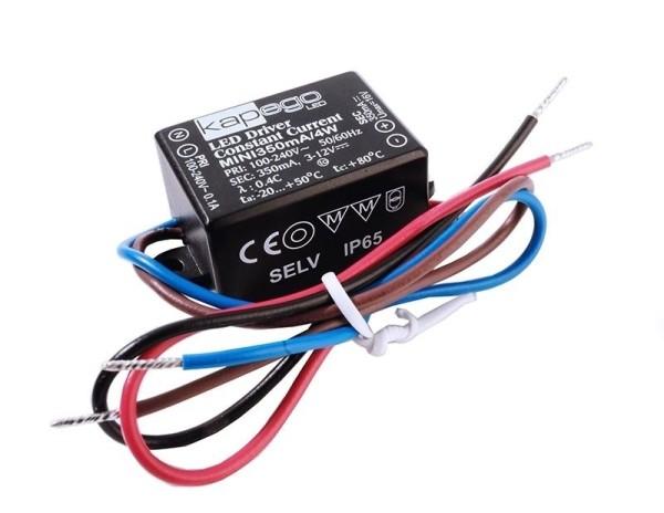 Deko-Light Netzgerät, MINI, 350mA/4W, Polycarbonat, Schwarz, 4W, 3-12V, 350mA, 38x27mm