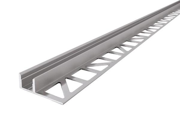 Reprofil Profil, Fliesen-Profil EL-01-08, Aluminium, Silber-matt eloxiert, 2000mm