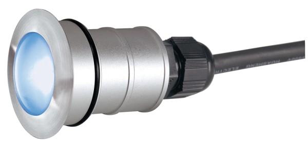 POWER TRAIL-LITE 42, Outdoor Bodeneinbauleuchte, LED, blau, IP67, rund, edelstahl 316