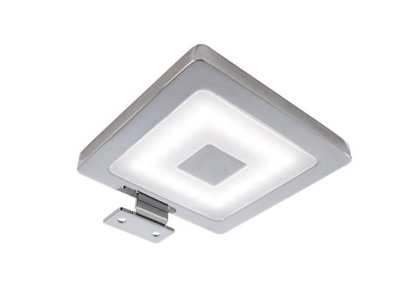 Deko-Light Möbelaufbauleuchte, Spiegel Eckig, Aluminium, silberfarben Chrom, Neutralweiß, 120°, 4W