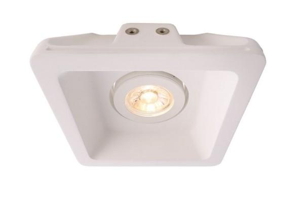 Deko-Light Deckeneinbauring, Gips, weiß, 50W, 12V, 155x155mm
