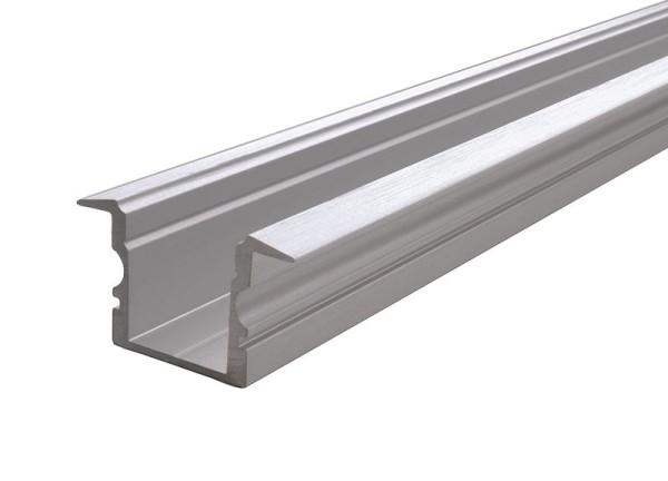 Reprofil Profil, T-Profil hoch ET-02-10, Aluminium, Silber gebürstet, 1000mm