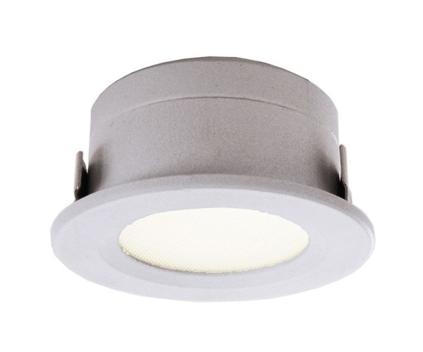 Deko-Light Deckeneinbauleuchte, Aluminium Druckguss, weiß, Warmweiß, 110°, 1W, 12V