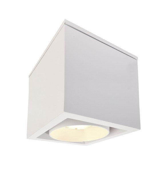 Deko-Light Deckenaufbauleuchte, Ceti, Aluminium Druckguss, weiß matt, Warmweiß, 35°, 9W, 230V