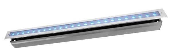 Deko-Light Bodeneinbauleuchte, Line VI RGB, Edelstahl, silberfarben, RGB, 30°, 42W, 24V, 1025mm