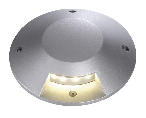 BIG LED PLOT, Abdeckung, rund, 1 Slot, silbergrau