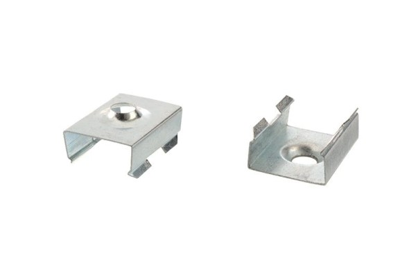 Reprofil Profil Zubehör, Halteklammer - 08 Set 2 Stk, Metall, 20x15mm