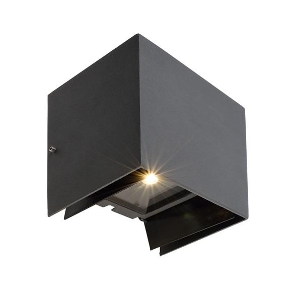 Deko-Light Wandaufbauleuchte, Arcturus II, Aluminium Druckguss, dunkelgrau, Warmweiß, 00°-90°, 5W