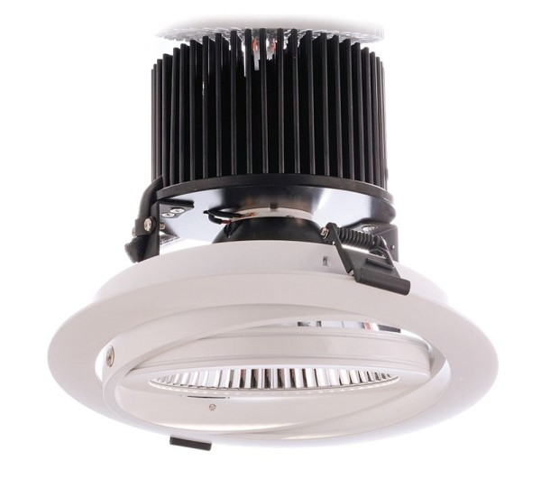 Deko-Light Deckeneinbauleuchte, COB44, Aluminium Druckguss, weiß, Neutralweiß, 40°, 44W, 28-32V