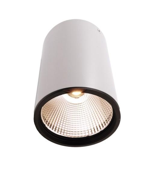 Deko-Light Deckenaufbauleuchte, Luna 30, Aluminium Druckguss, weiß mattiert, Warmweiß, 40°, 30W