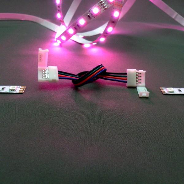 Flex-Verbinder/Einspeiser für RGB LED Strips 5050 10mm