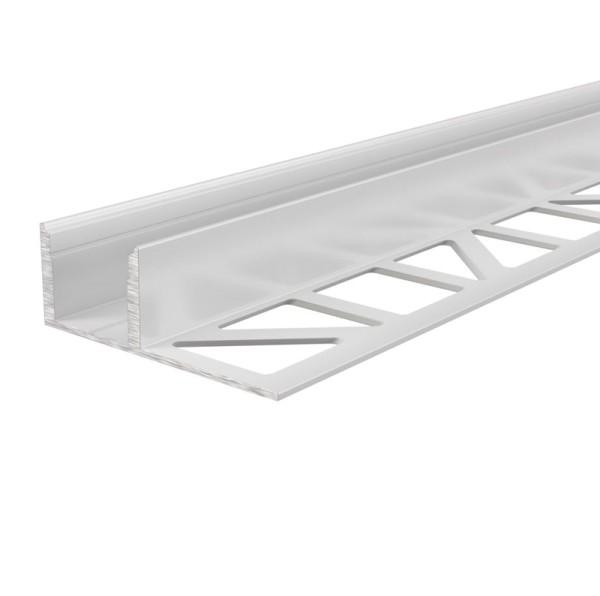 Reprofil Profil, Fliesen-Profil EL-03-12, Aluminium, Weiß lackiert, 2500mm