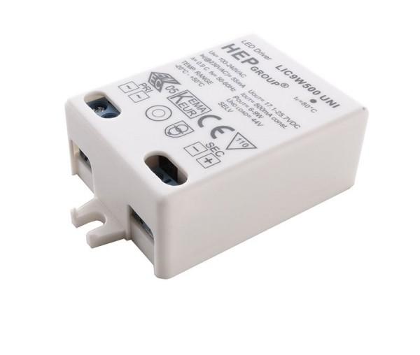 HEP Netzgerät, LIC9W500 UNI, Kunststoff, Weiß, 9W, 12-18V, 475mA, 58x39mm