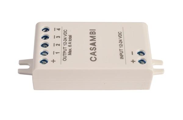Casambi Controller, Bluetooth Controller CBU-PWM4, Kunststoff, Weiß, 72W, 12-24V, 0A, 73x30mm