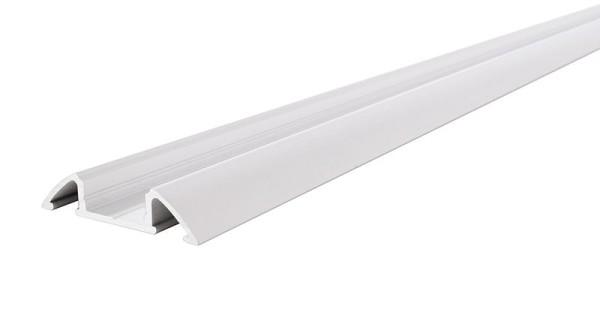 Reprofil Profil, Unterbau-Profil flach AM-01-10, Aluminium, Weiß-matt, 2000mm