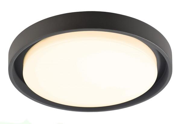 Deko-Light Deckenaufbauleuchte, Ascella, Aluminium Druckguss, dunkelgrau, Neutralweiß, 113°, 27W
