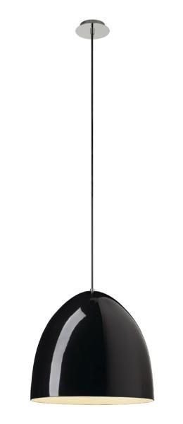 PARA CONE 40, Pendelleuchte, A60, rund, schwarz hochglänzend, Ø 40 cm, max. 60W