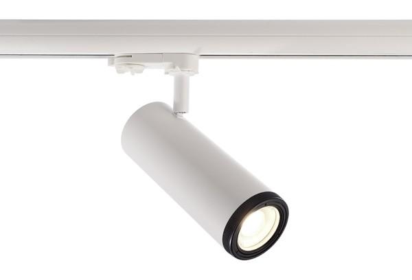 Deko-Light Schienensystem 3-Phasen 230V, Pleione Focus I, Aluminium Druckguss, weiß, Neutralweiß