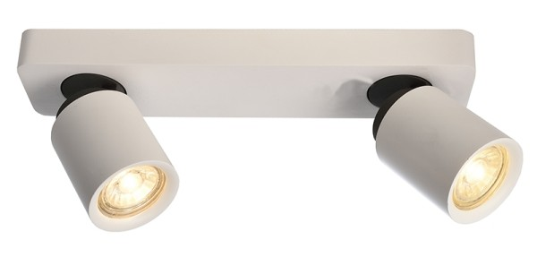 Deko-Light Deckenaufbauleuchte, Librae Linear II, Aluminium, weiß matt, 50W, 230V, 322x72mm