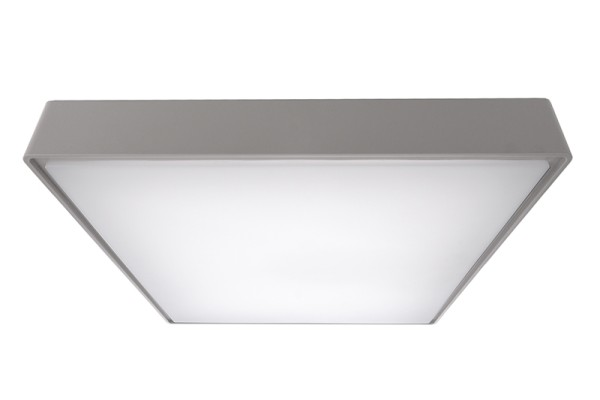 Deko-Light Deckenaufbauleuchte, Quadrata III, Kunststoff, grau, Neutralweiß, 115°, 20W, 230V
